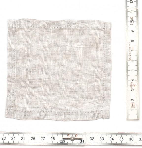 kleiner Leinen Untersetzer Minituch 10 x 10 cm beige