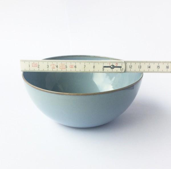 Schale ø 13,5 cm hellblau graublau glänzend rund
