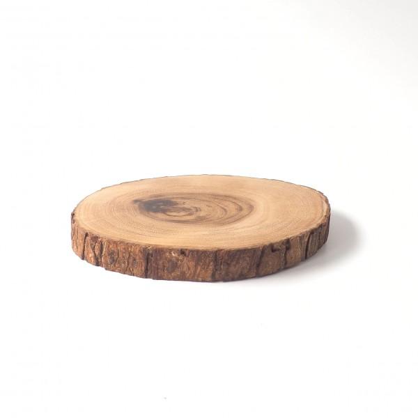 Schneidebrett Baumscheibe mit Rinde ø 22 cm H 3 cm