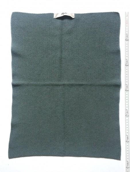 Handtuch Strick Tuch 60 x 40 cm moosgrün blaugrün fein gestrickt