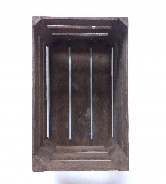 Holzkiste, Apfelkiste, braun, gebraucht, L 49,5 cm x B 30,5 cm x H 28 cm