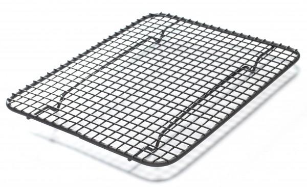 Kuchengitter Metall dunkelgrau, L 25 cm, B 20 cm, H 2 cm