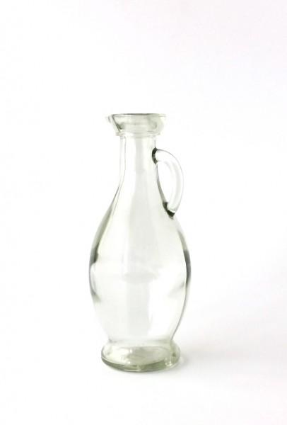 Flasche Ölflasche H 17 cm B 5,5 cm Glas