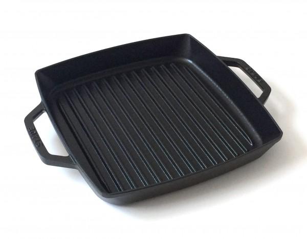 Grillpfanne quadratisch Gusseisen, schwarz, semi matt ø 28 cm