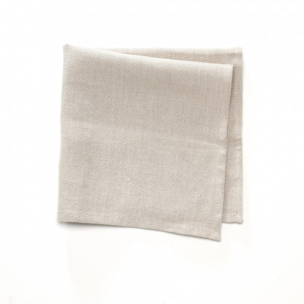 Serviette Leinen beige 50 x 50 cm, 3 Flecken