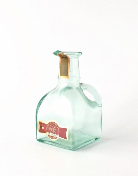 Flasche Essigflasche H 13,5 cm B 7 x 7 cm Glas C|A|B|M OD 157060