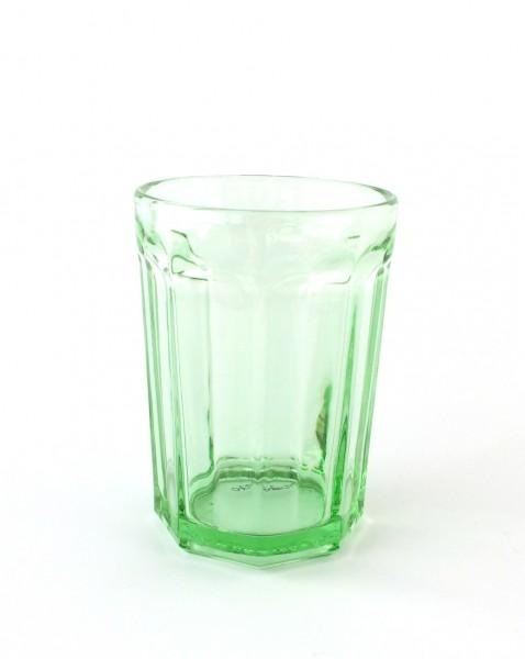 Trinkglas H 12 cm ø 8,5 cm grün transparent 40cl