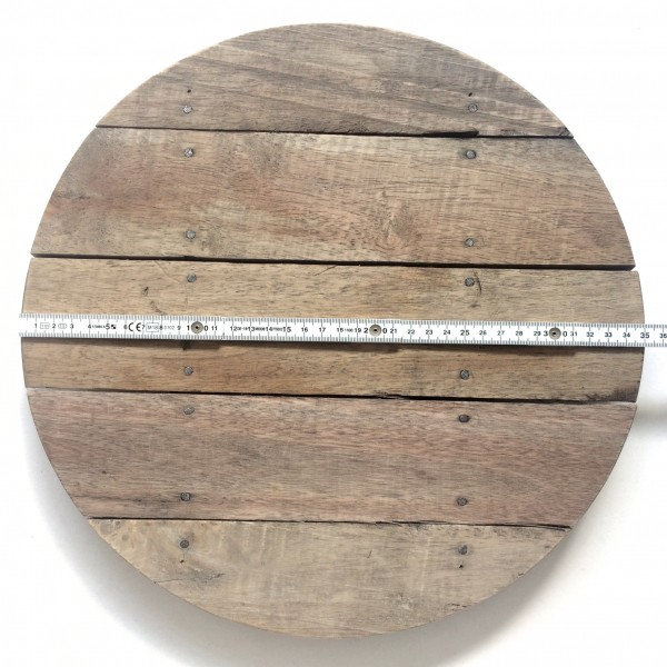 Holzbrett Schneidebrett groß ø 35 x H 3,4 cm Akazie used look