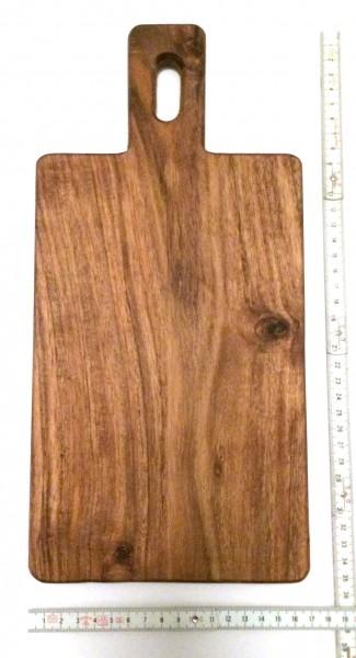 Schneidebrett Tapasbrett Holz L 35 cm B 17 cm H 1,5 cm