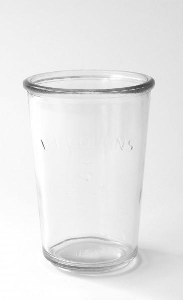 Glas mit Schriftprägung I.J. Collings und Anker Est. 1905 ca. 300 ml