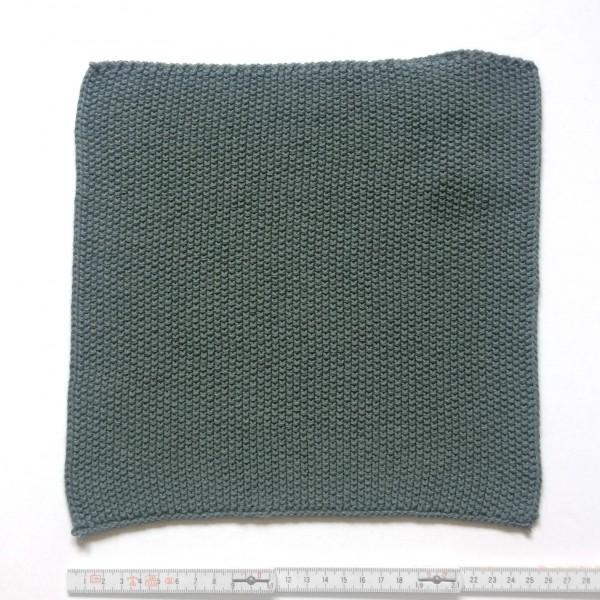 Topflappen Tuch feiner gestrickt 25 x 25 cm moosgrün blaugrün