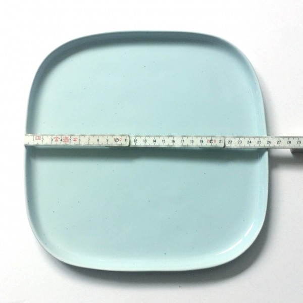 Servierplatte Teller Lx B 26x26 cm türkisblau quadratisch