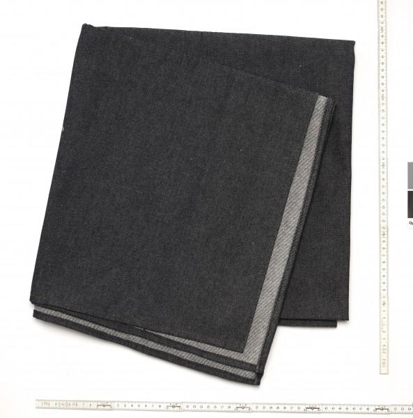 Stoff Tischdecke Jeans Denim schwarz 10 oz, umgenähte Kanten