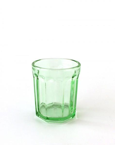 Trinkglas H 9 cm ø 7,5 cm grün transparent