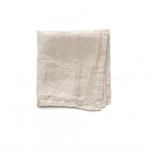 Serviette Leinen beige unifarben 43 x 43 cm