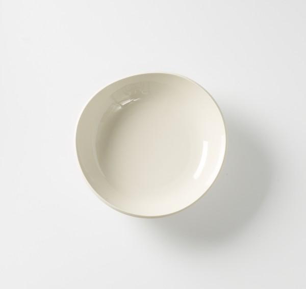 Suppenteller ø 22 cm Schale weiß creme Innen glänzend außen matt