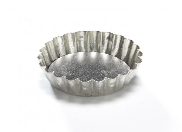 Mini Tarteform Weißblech herausnehmbarer Boden ø 6,5 cm, Mini Backform, H 2,5 cm Außen ø 8 cm