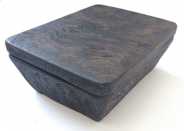 Kiste mit Deckel, Holz, Eiche schwarz gebeizt