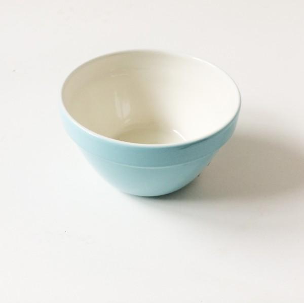 Schale bowl hellblau ø 15,5 cm H 9cm innen beige