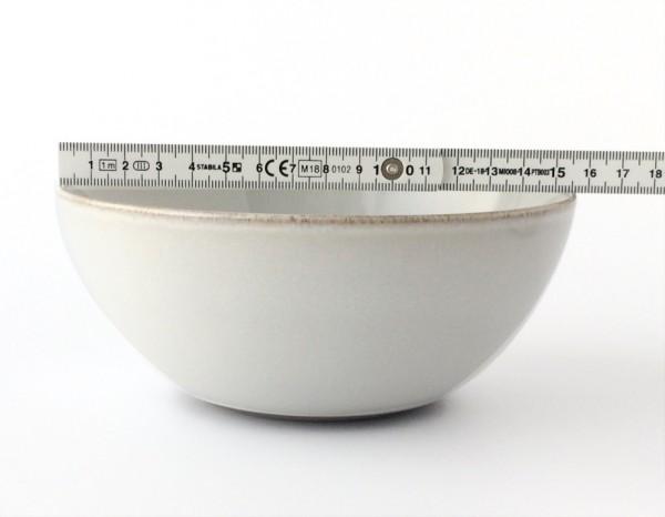 Müsli Schale ø 15,5 cm hellgrau weiß glänzend rund 50 ml