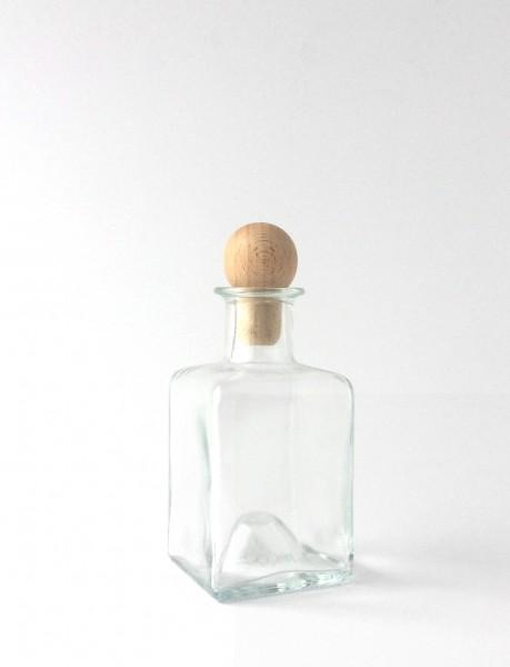 Flasche H 12 cm B 6 x 6 cm Vase Glas