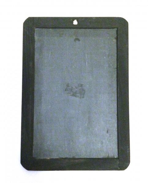 Schultafel klein, Tafel, Schiefer mit schwarzem Holzrand, vintage L 26cm x B 18cm