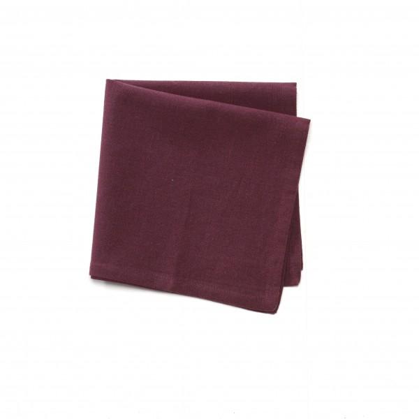Serviette Baumwolle bordeaux weinrot unifarben 42 x 42 cm