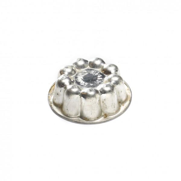 kleine Backform Minibackform Blume, Puddingform Weißblech, vintage, 1 von 6