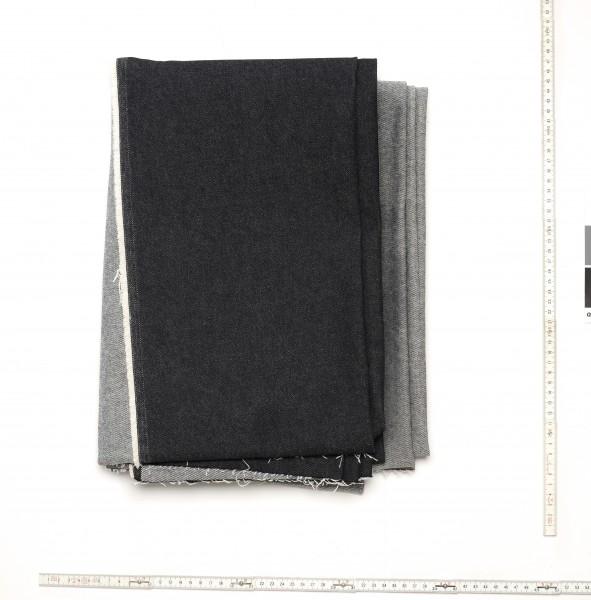 Stoff Tischdecke Jeans Denim schwarz 10 oz, fleckig