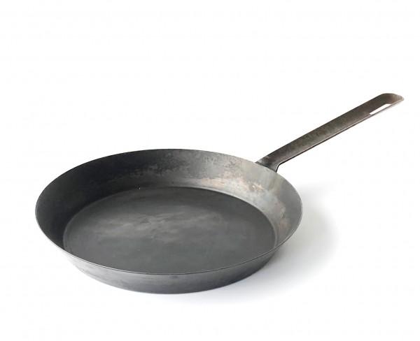 Pfanne, Eisen schwarz, vintage, Boden ø 21 cm, Außen ø 25,5 cm