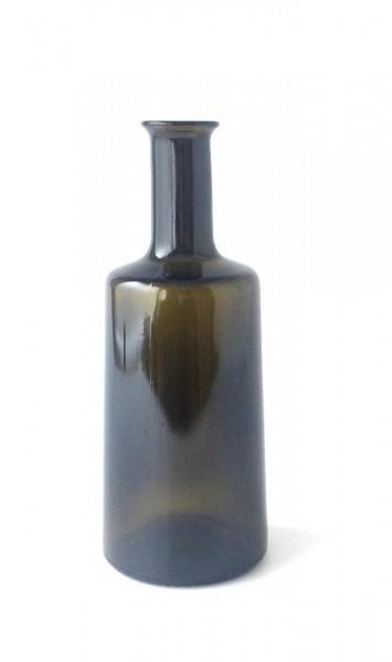 Flasche Vase Glas braun grün