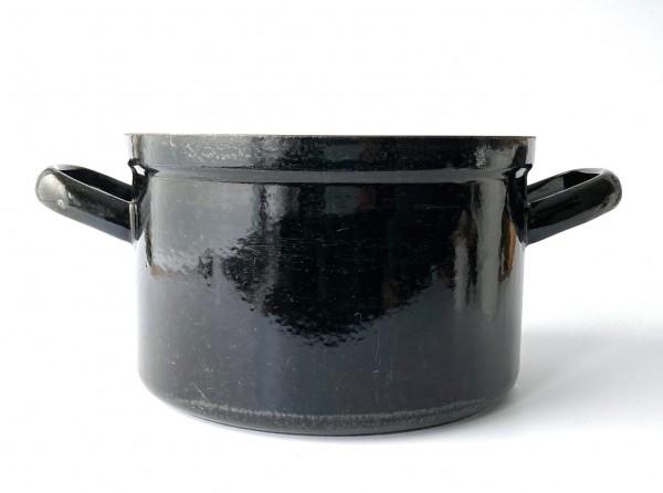 großer Topf ohne Deckel ø ca. 25,5 cm schwarz used vintage (passender Deckel FP.11062)