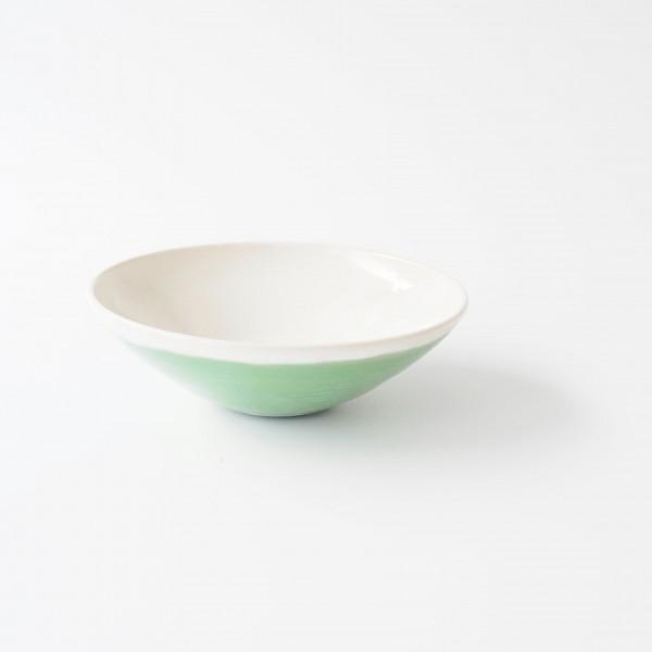 Schale Müslischale ø 16,5 cm H 5,5 cm innen weiß außen grün