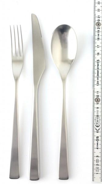 Besteckset edelstahl matt Set Messer, Gabel, Suppenlöffel, 3 Teile, neu