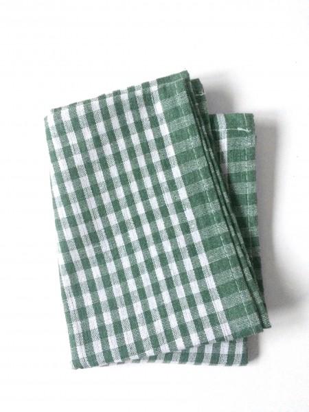 Küchentuch Baumwolle grün weiß KAROmuster L 66 x B 53 cm