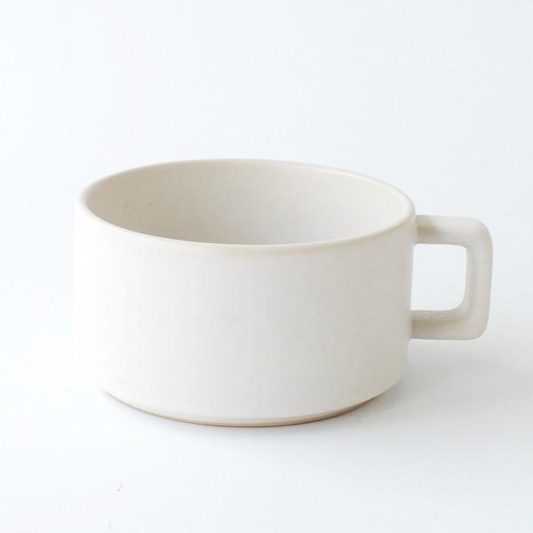 Tasse mit Henkel weiß matt H 6 cm ø 10 cm