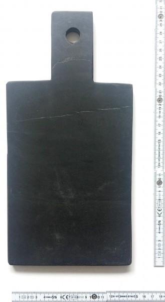 Schneidebrett, Stein L 30 cm B 15 cm H 1,5 cm rechteckig, schwarz