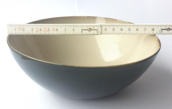 Müsli Schale ø 18,5 cm dunkelblau beige glänzend rund