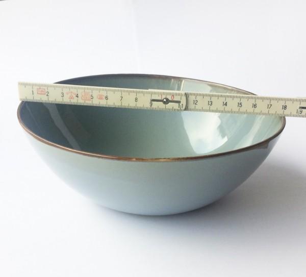 Müsli Schale ø 18,5 cm graublau glänzend rund