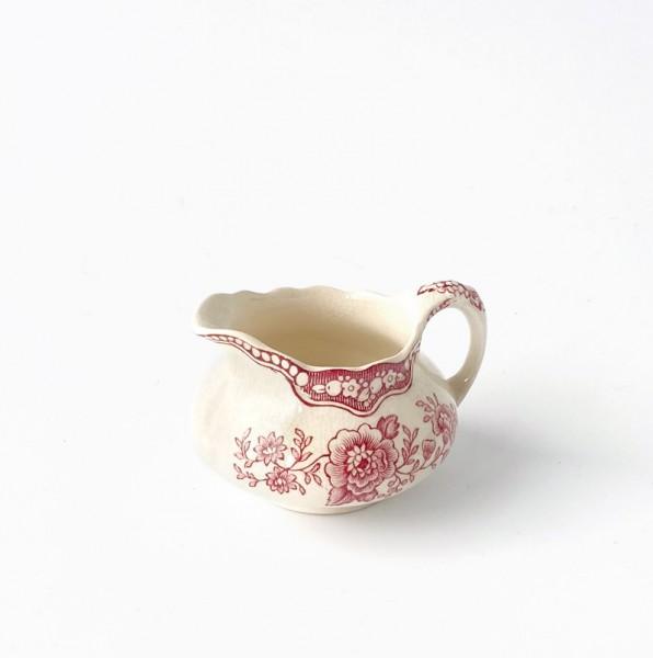 """kleines Milchkännchen, Porzellan, beige mit rotem Blumen """"Bristol No7620"""""""