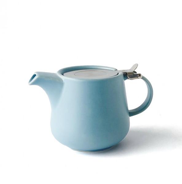 Teekanne, Kanne, Porzellan, hellblau, matt 600ml inkl. Teesieb
