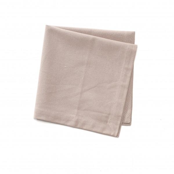 Serviette Baumwolle beige unifarben 44 x 44 cm