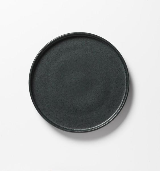 Frühstücksteller schwarz matte Glasur ø 21 cm
