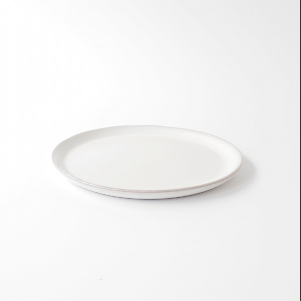 Teller ø 21,5 cm weiß matt Keramik