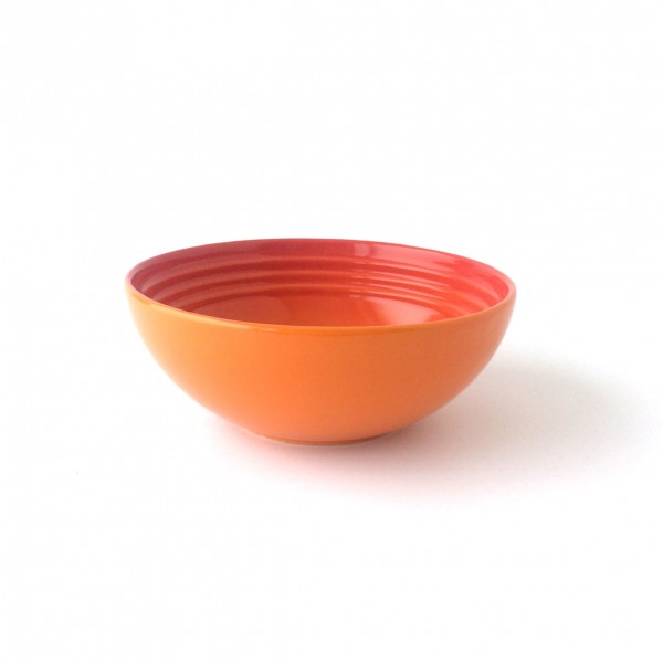 Müslischale ø 16 cm orange ofenrot Steinzeug