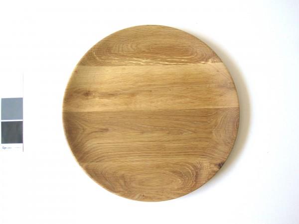 Teller ø 30 cm Holz Eiche Vollholz unbehandelt