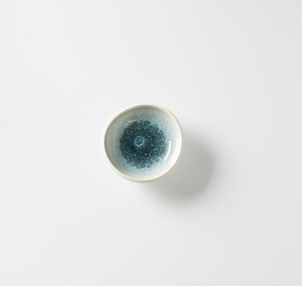 Tellerchen ø ca. 12 cm, Steinzeug innen glasiert, H ca. 4 cm creme aquamarine