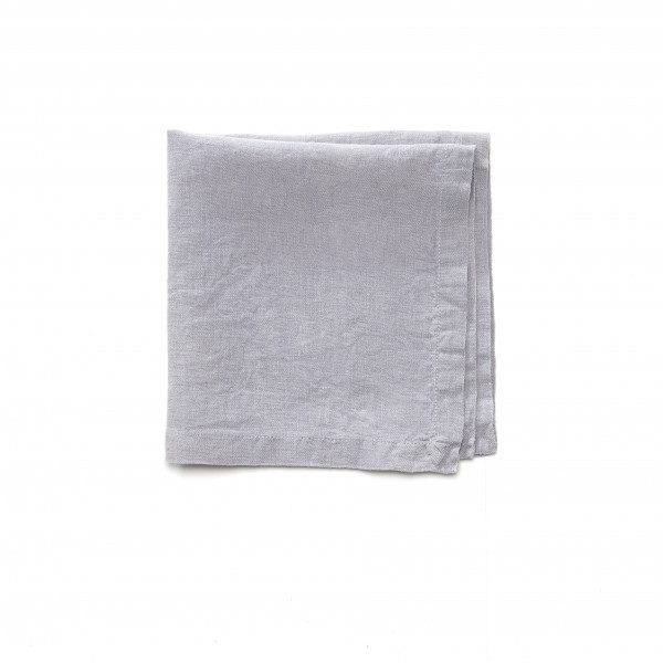 Serviette Leinen hell grau grau-blau 42 x 42 cm