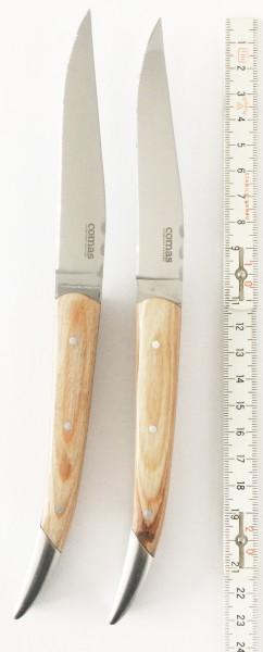Steakmesser Set à 2 Messer, Griff: Holz