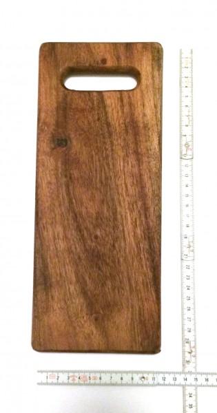 Schneidebrett Tapasbrett Holz L 30,5 cm B 12 cm H 1,5 cm